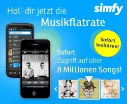 Bei DailyDeal bekommt man die simfy 3-Monats-Musikflatrate für nur € 9,99