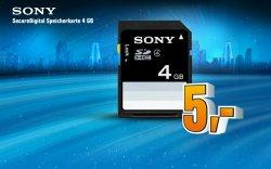 SONY 4GB SD-Karte bei Saturn für 5 EUR