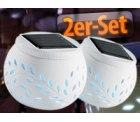 0€ statt 19,90€, 2er-Set LED-Solar Dekoleuchten mit Farbwechsel
