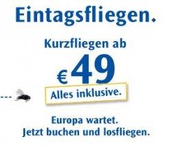 100.000 Condor Eintagsfliegen ab 49 Euro! Schnell sein lohnt sich! Start: Morgen (Donnerstag) 10 Uhr!