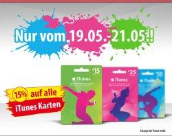 15% auf alle iTunes-Geschenkkarten bei Penny vom 19.05. bis zum 21.05.