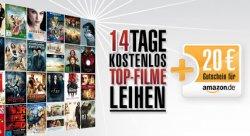 20€ Amazon-Gutschein und 2 Wochen kostenlos Lovefilm für 4,99€