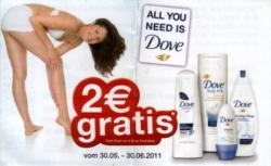 2€ Dove Gutschein – Seife für umsonst oder andere Artikel
