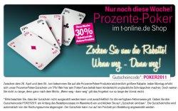 30% Poker Aktion bei T-Online Shop bis 5. Juni!