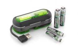 Energizer DUO: USB-Akkuladegerät für Mignon/Micro inkl. 2 NiMH-Akkus Gratis