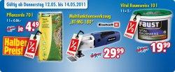 Halber Preis Aktion bei Praktiker (offline) zB. Funkfernschalter, Blumenerde, Multi-Werkzeug etc.