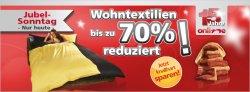 Jubelsonntag bei Neckermann. Bis zu 70% auf Wohntextilien wie Bettwäsche, Handtücher etc.