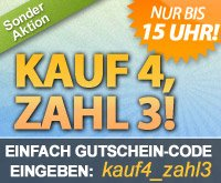 Kaufe 4 Coupons, zahle 3 bei DailyDeal bis heute (17.05) 15:00 Uhr