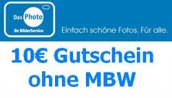 Komplett kostenlose Fotos mit 10€ Gutschein (auf VSK anrechenbar)