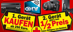 Media Markt  – 1 Gerät kaufen und das 2. gibt es zum halben Preis