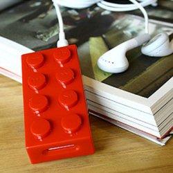 Mp3-Player als Legostein, lustiges Gadget für 6,73€ versandkostenfrei in versch. Farben bei eBay