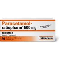 PARACETAMOL Ratiopharm 500 mg komplett kostenlos bestellen