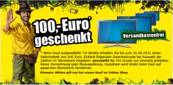 Promarkt: 100 EUR Sofortrabatt auf einige TVs + versandkostenfreie Bestellung