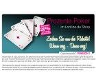 Prozente-Poker im T-Online Shop. 20% Rabatt auf Aktionsware wie Laptops, TV, Drucker etc.
