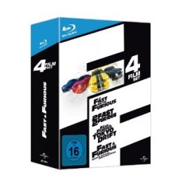 The Fast and the Furious 1-4 [Blu-ray] bei Media-Dealer für 25€ + 2,99€ Versand
