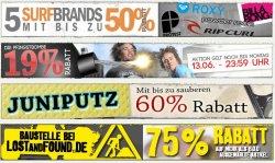 19% RABATT auf ALLES! bei LostandFound + weitere Rabatt-Aktionen