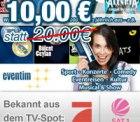 20€ Gutschein für eventim.de für nur 10€    —  also 50% gespart