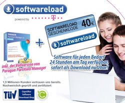 24 Euro statt 69,95 Euro für  neuesten Software-Vollversionen  bei softwareload.de + Gratis Paragon Partition Manager 11 Personal Edition (Normal 29,90€)