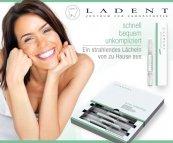 29,99€ (81% Rabatt) Sommerliches Strahle-Lächeln ganz ohne Zahnarzt – Premium Home-Bleaching-Set inkl. Zahnweißstift von Ladent