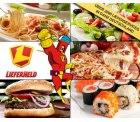 5 Euro statt 12 Euro – Lass Dir Pizza, Sushi, Burger und vieles mehr bequem nach Hause liefern mit LIEFERHELD.de