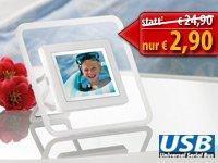 "Digitaler Bilderrahmen 6,1 cm / 2,4"" mit integriertem Akku nur 2,90 € + 4,90 Versand"
