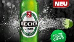 Sixpack Becks lime für lau (mit etwas Glück)