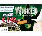 2 Pers. für 146€ statt 292€ zum Musical WICKED – Die Hexen von Oz  inklusive Übernachtung