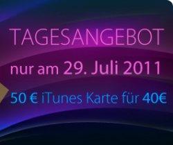 20% Rabatt: 50€ iTunes-Karte für 40€ bei Müller