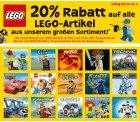 20 % Rabatt auf alle Lego-Artikel