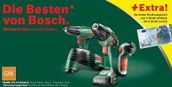 20€ Cash-back-Aktion bei Bosch + 10€ Gutschein bei Hagebau