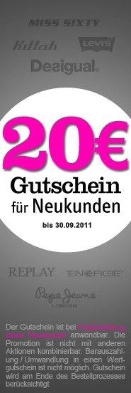 20€ Gutschein für Haburi.com – Top Marken wie Diesel, Pepe, Levis, Hilfiger und mehr… (MBW: nur 24€)
