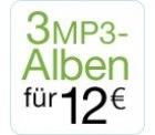 3 MP3-Alben für zusammen 12 EUR (Amazon)