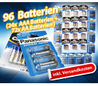 (-76%) 96 Batterien, je 24x AAA und 72x AA  für nur 24,95€ inklusive Versand! (-79,81€)