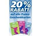 Ab Montag gibts bei REAL 20% Rabatt auf alle iTunes-Karten!