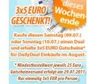 An diesem Wochenende bei DailyDeal: Deal kaufen und 3x 5 EUR Gutschein bekommen