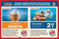 Eiswaffel gratis und King-Box Menü für 2,49 € bei Burger King