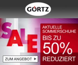 Görtz Schuh Sale: 50% Rabatt + 10€ Gutschein + versandfrei