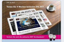 Gratisabo von DIE ZEIT – 4 Wochen lang lesen