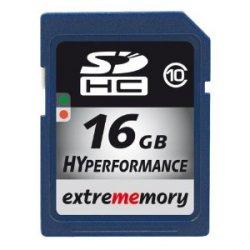 Nochmal günstiger: EXTREMEMORY 16GB SDHC Speicherkarte Class 10 für 18,49€ inkl. Versand
