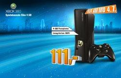 Nur am Montag – ca. 60€ sparen!!! XBOX 360 slim 4 GB für 111€ bei Saturn!