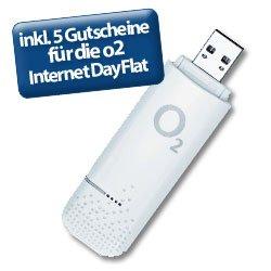 o2 Prepaid Surfstick inklusive 5 Gutscheine für die o2 Internet Dayflat für 7,99€ inkl. Versand! (unlock möglich)