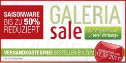 SALE bei Galeria Kaufhof – bis 50% Rabatt + Versandkostenfrei ab 20€ Einkaufswert!