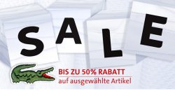 Sale bei Lacoste – bis zu 50% Rabatt!