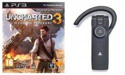 Uncharted 3 für 65,50€ vorbestellen und PS3 Bluetoooth Headset im Wert von 41€ kostenlos dazu