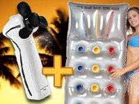 Wasser-Sprühventilator & UV-reflektierende Luftmatratze GRATIS