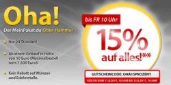 15%-Gutschein auf Alles bei MeinPaket.de
