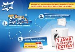 3 Calgon Produkte kaufen & Garantie der Waschmaschine um 1 Jahr verlängern!