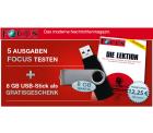 5 Ausgaben Focus für 12,25€ statt 17,50€ und 8 GB USB-Stick als Gratisgeschenk