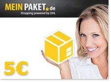 5 € MeinPaket Gutschein, MBW nur 14,50 €