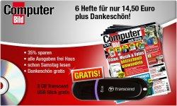8 Ausgaben COMPUTER BILD mit DVD + 8 GB USB-Stick nur 14,50 €